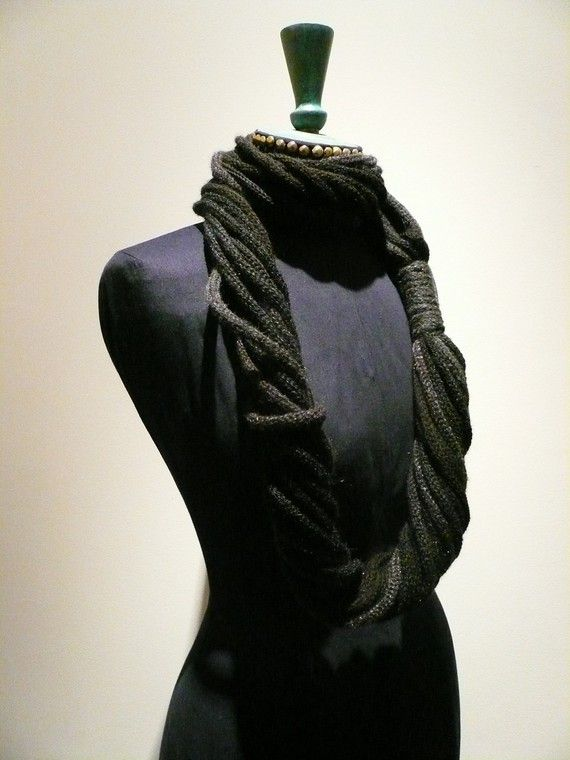 TAJ snood tricotin multi-fils noir
