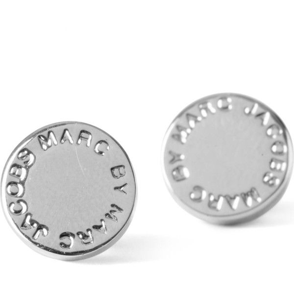 Marc Jacobs Logo Disc Stud Earrings 82 Nzd Liked On Polyvore Featuring Jewelry