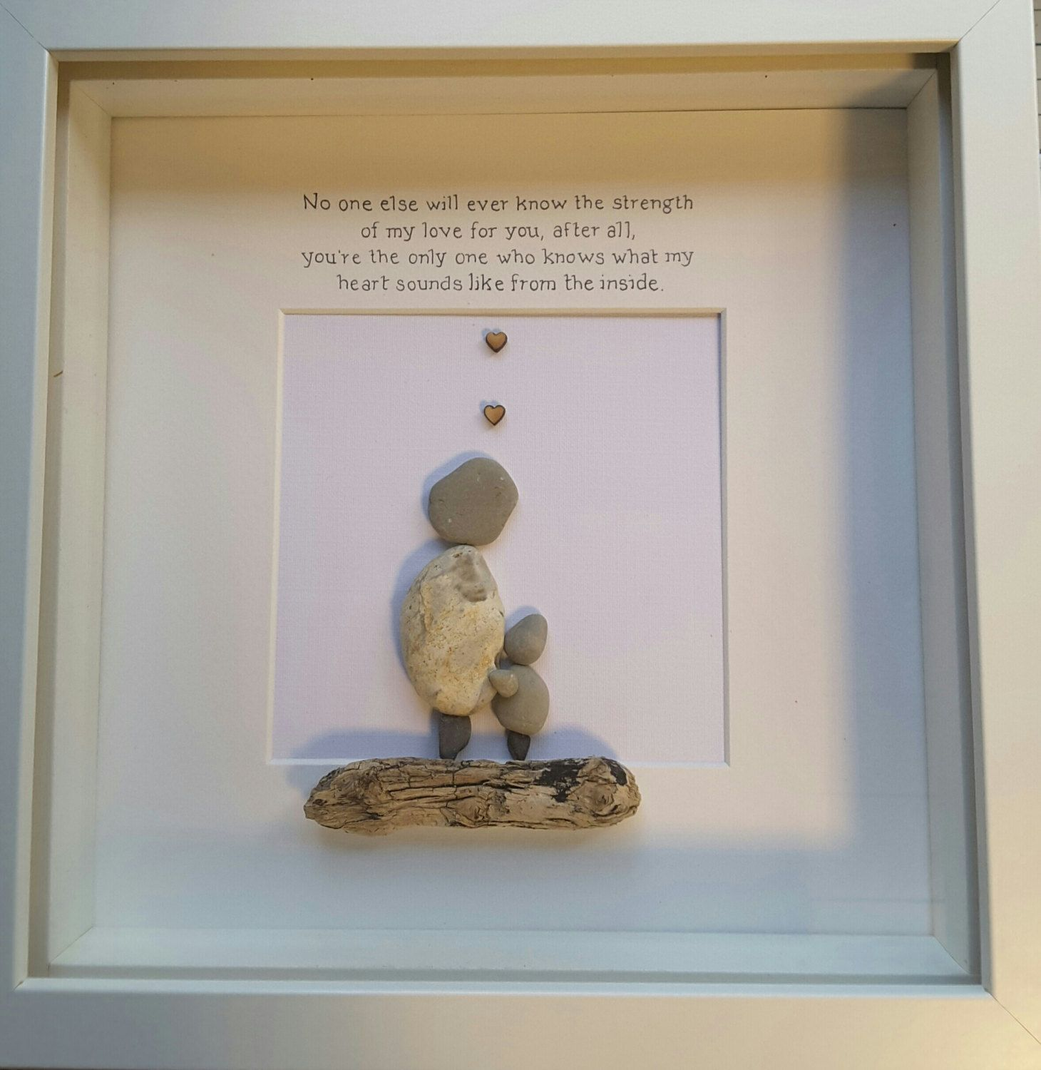 Mothers Day picture,Pebble picture,pebble art,wall Art,mothers day ideas,mum,mom,mama,mummy,nanny,granny,framed quotes,when I grow up by CoastalPebblesShop on Etsy