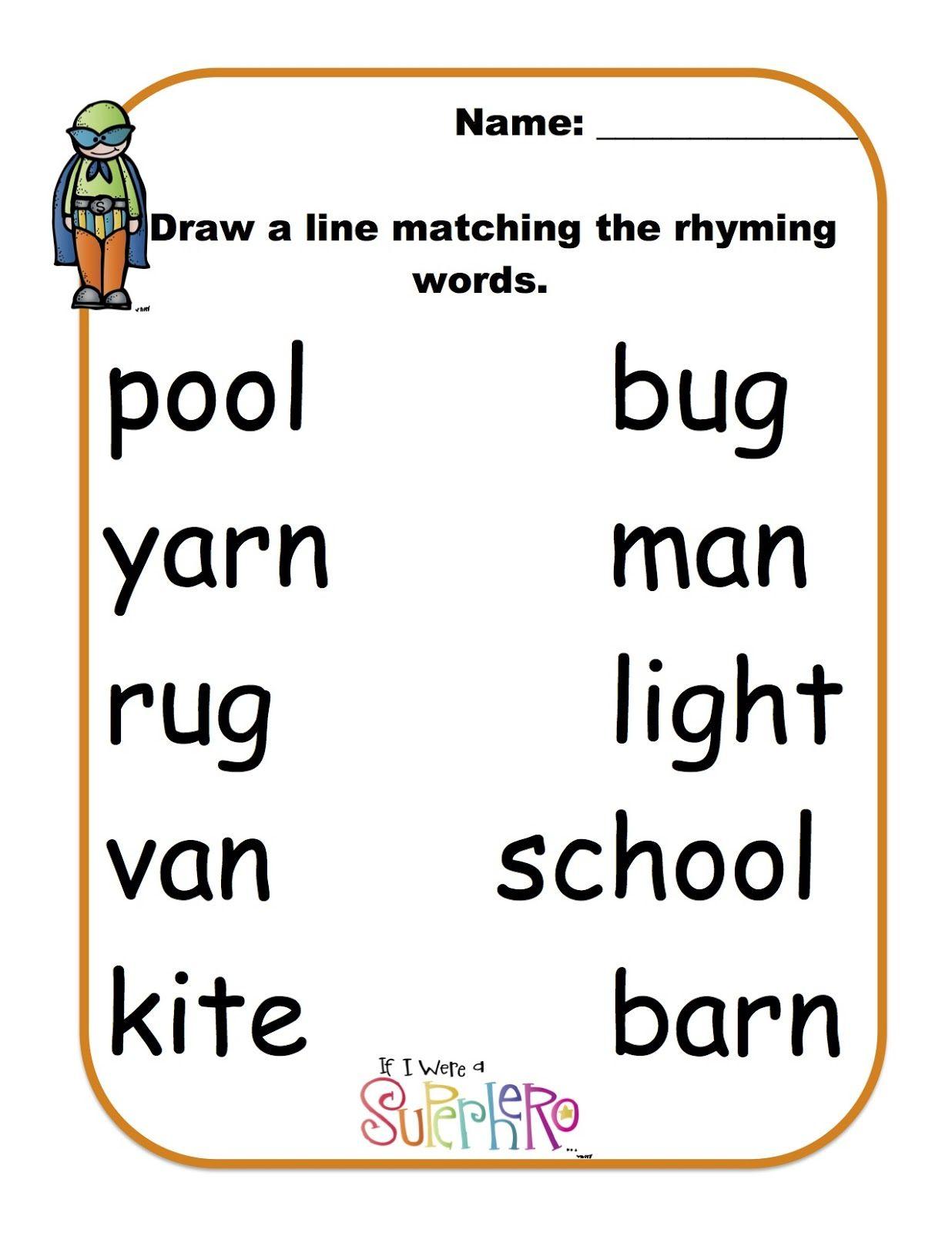 Worksheets Free Printable Rhyming Worksheets For Kindergarten words that rhyme with love free watch movie online rhyming super heros preschool printables