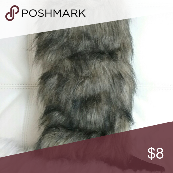 Boot or Leg Slip Black & grey/tan fur cover  BRAND NEW Below the knee length  Firm price - $8  FREE Shipping :)   Don't Forget to Bundle & Save Accessories