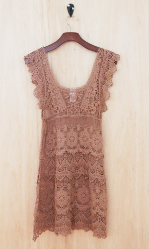 PALM SPRINGS BOUND? This summer, adorn yourself in this free and breezy crochet dress. Think bohemian, lacey, feminine, and chic.