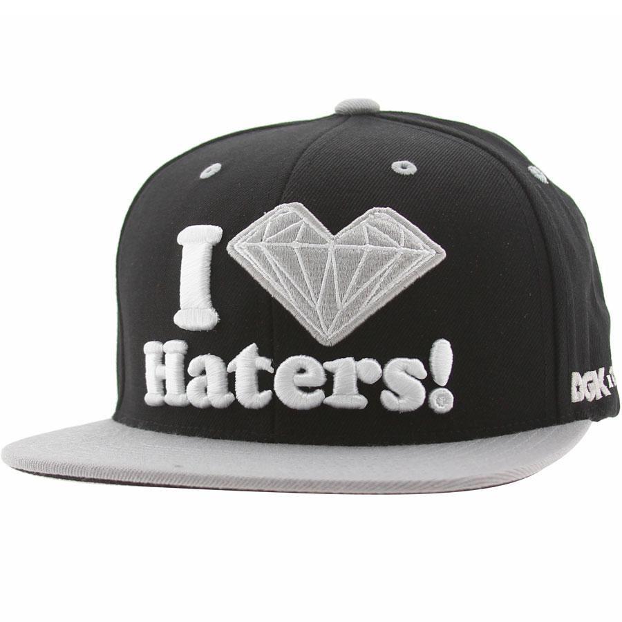 ... dgk x diamond supply co haters snapback cap black silver dh304bsl 39.99 a915a795c38