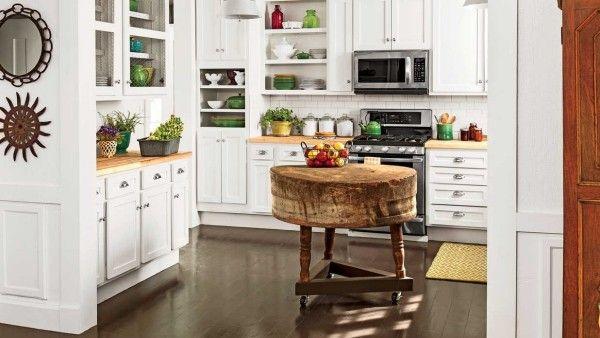 küchendeko stilvolle accessoires tisch im vintage stil wanddeko