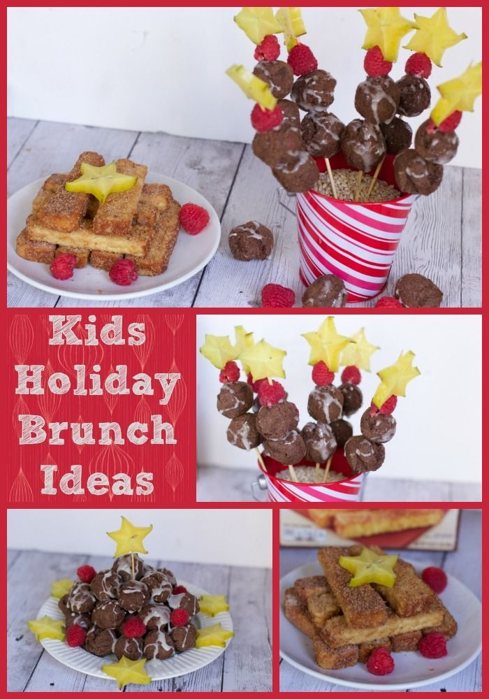 A Kids Holiday Brunch Is An Easy Way To Entertain With These Farm Rich Food Short Cuts Make Donut Kebabs And French Toast Stick Gift Stacks