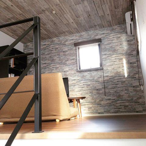 階段天井クロス おしゃれ アクセント の画像検索結果 内装 天井
