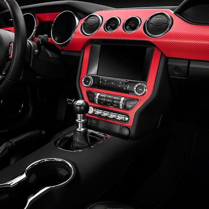 American Muscle Graphics Red Carbon Fiber Dash Kit For2015 2019