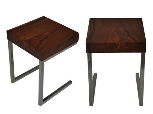 Pin By Steven Flaxman On Wood And Steel Furniture Pinterest - Steel and wood side table