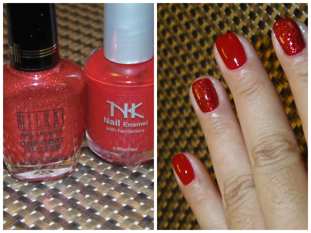 Holiday Sparkle. Milani One Coat Glitter in Red Sparkle, & Nicka K ...
