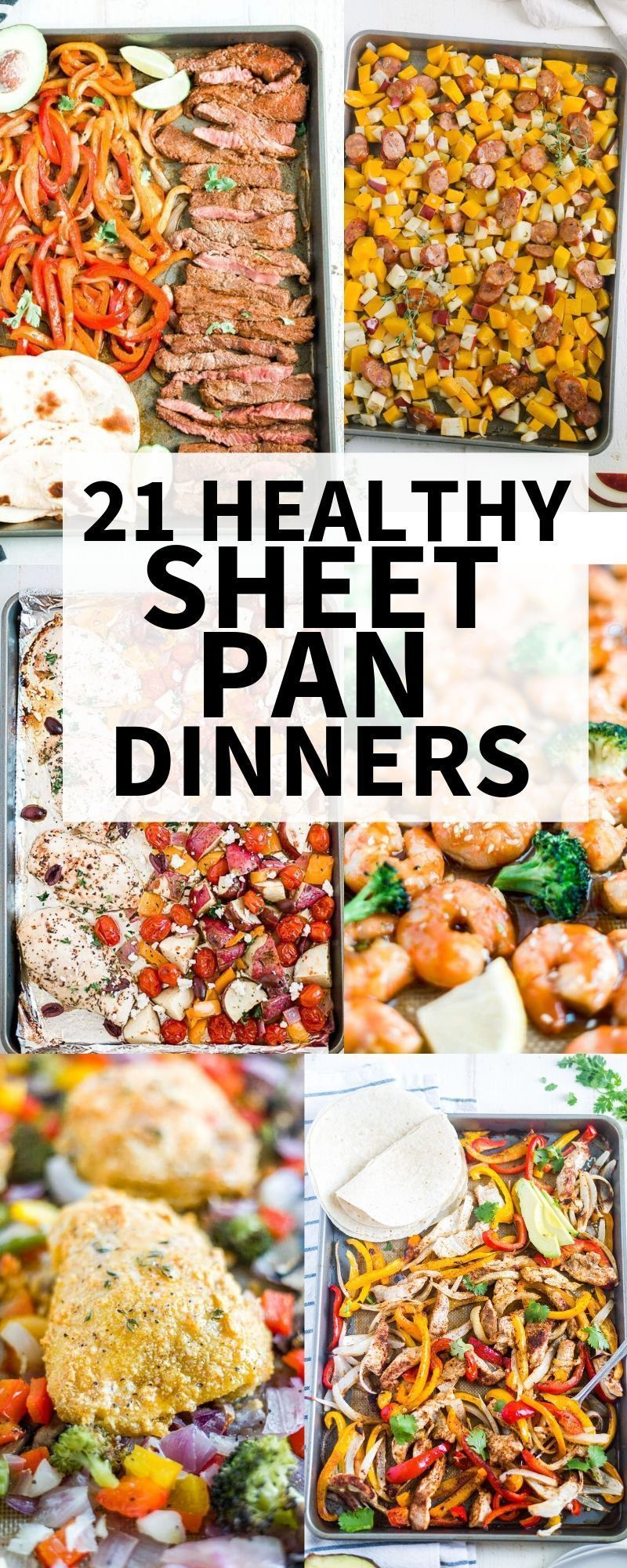 21 Healthy Sheet Pan Dinners | What Molly Made #onepandinnerschicken