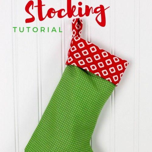 Easy Christmas Stocking Tutorial | Joy's Life