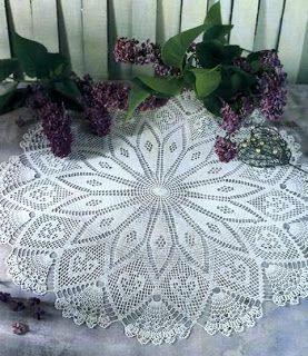 Centrotavola grande Diagrama guardanapo crochet, Padrões