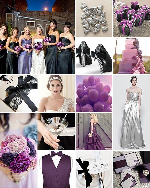 Purple Black And Silver Weddings Purple Black Wedding Wedding
