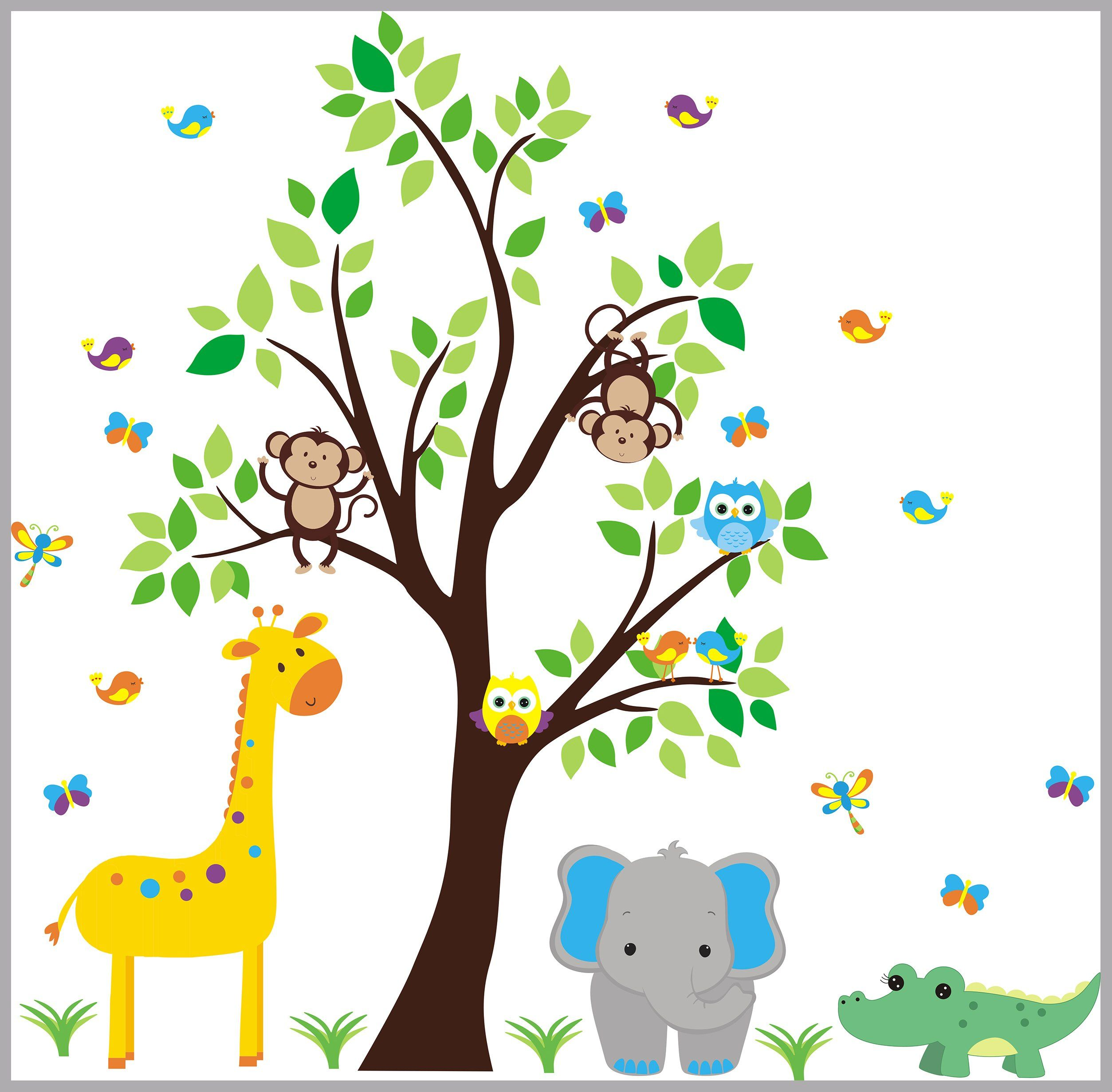 Wall Decals Nursery Baby Room Stickers Kids L And Stick Decor Safari Removable Reusable