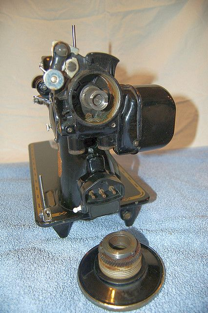 Singer Model 4040 Conversion Vintage Sewing Machine Attachments Gorgeous Remove Handwheel Singer Sewing Machine
