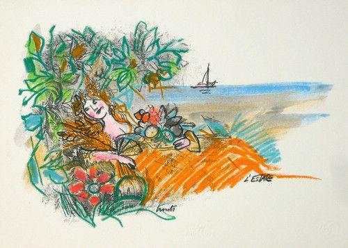 Lele Luzzati L'estate Ilustraciones