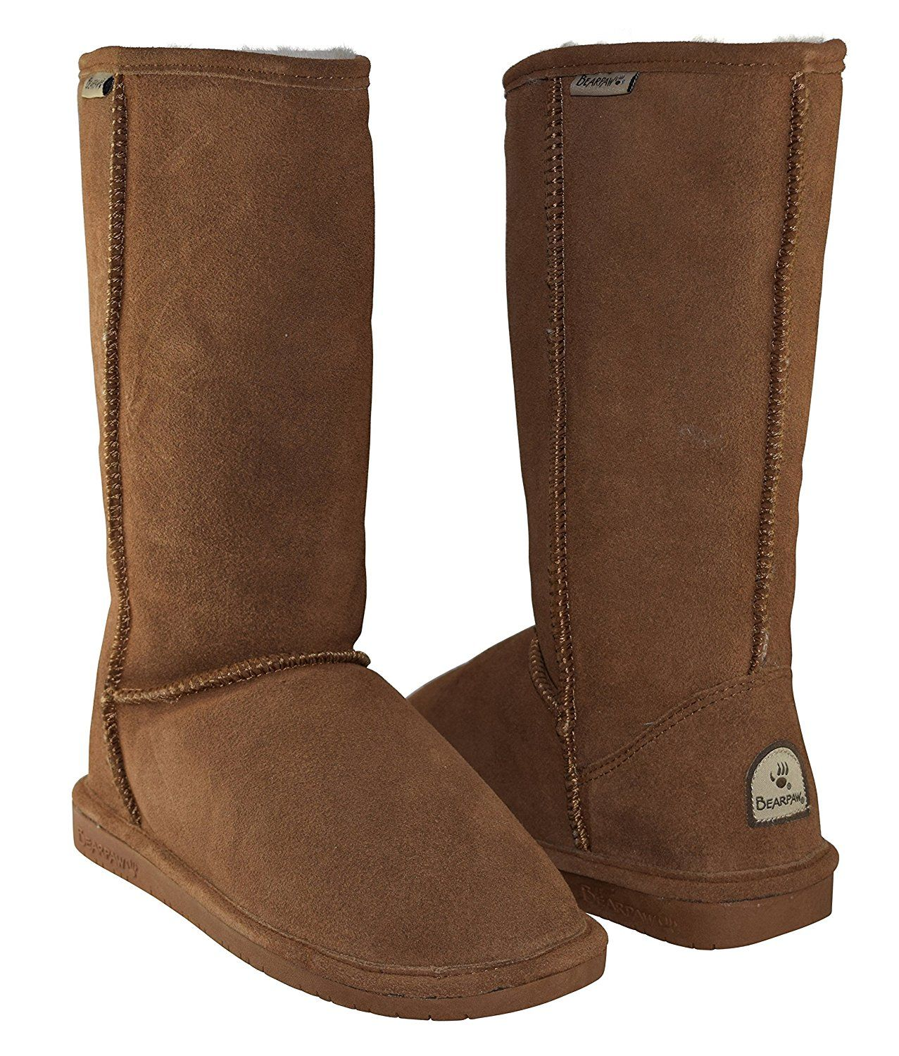c57f3ec75030b BEARPAW Women's Emma Tall Shearling Boots 612-W (Hickory) -- This is an  Amazon Affiliate link. Click image for more details.