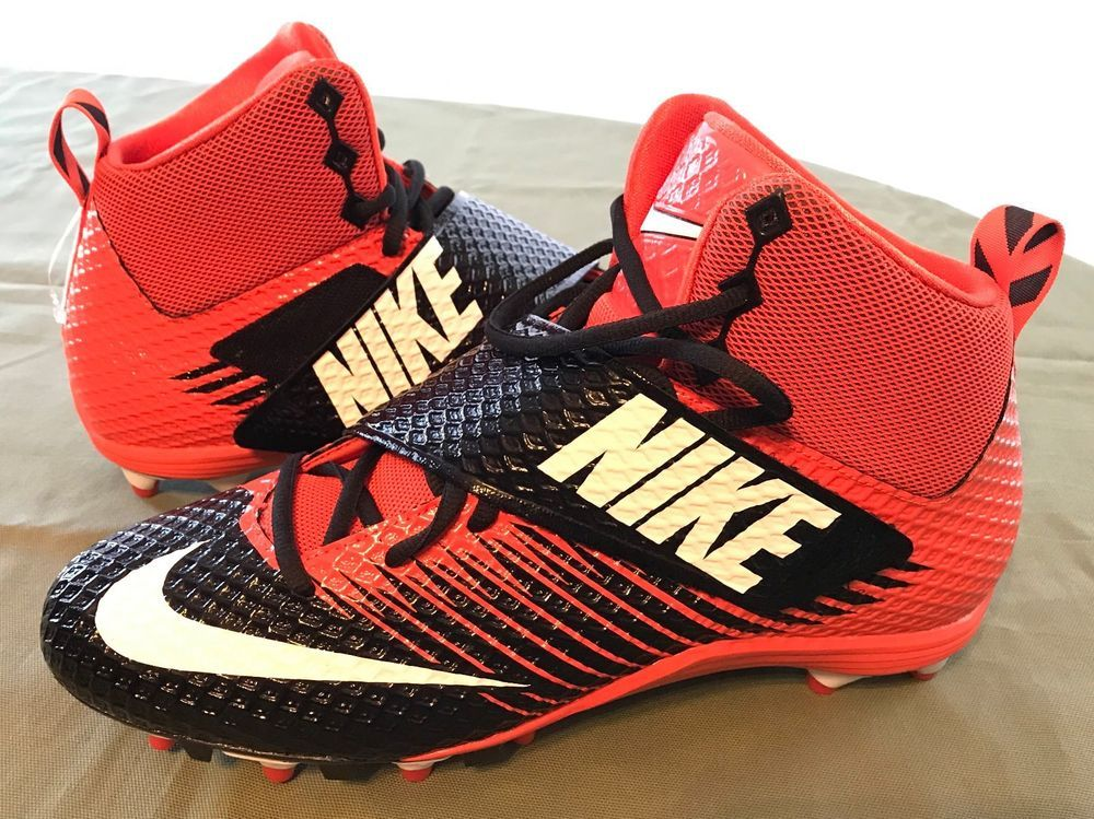 6d9dc3800 NIKE LunarBeast STRIKE PRO Football Cleats Size 11.5 Men s 833421-018  Orange blk  Nike. Find this Pin and ...