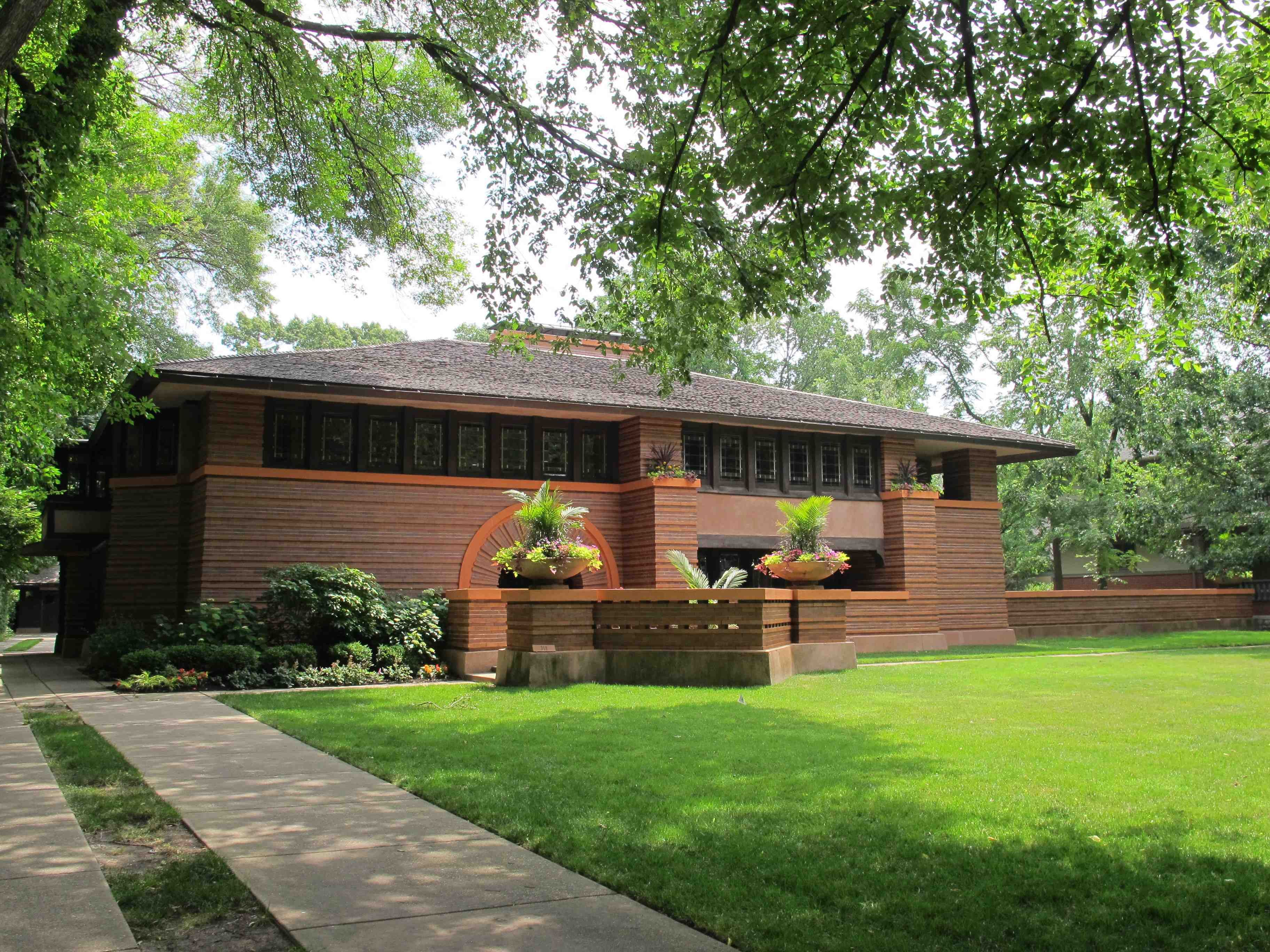 Frank Lloyd Wright Architectural Style Minimalist Exterior Home Popular Architectural Home Styles Home Exterior Projects