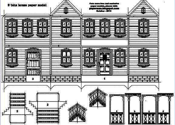 3d Paper House Template Vosvetenet – Paper House Template