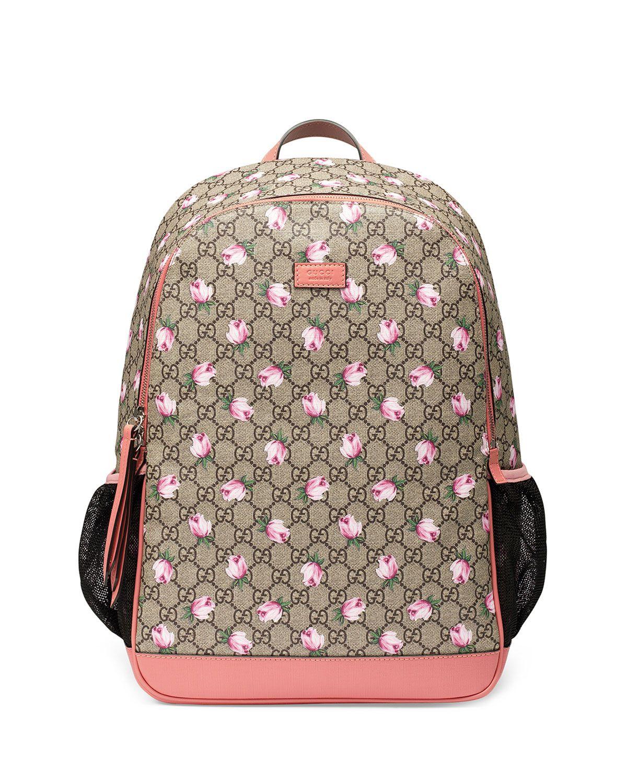 71e6ee3dcb7830 Gucci Classic GG Supreme Ladybug Backpack Diaper Bag, Beige | Bags ...
