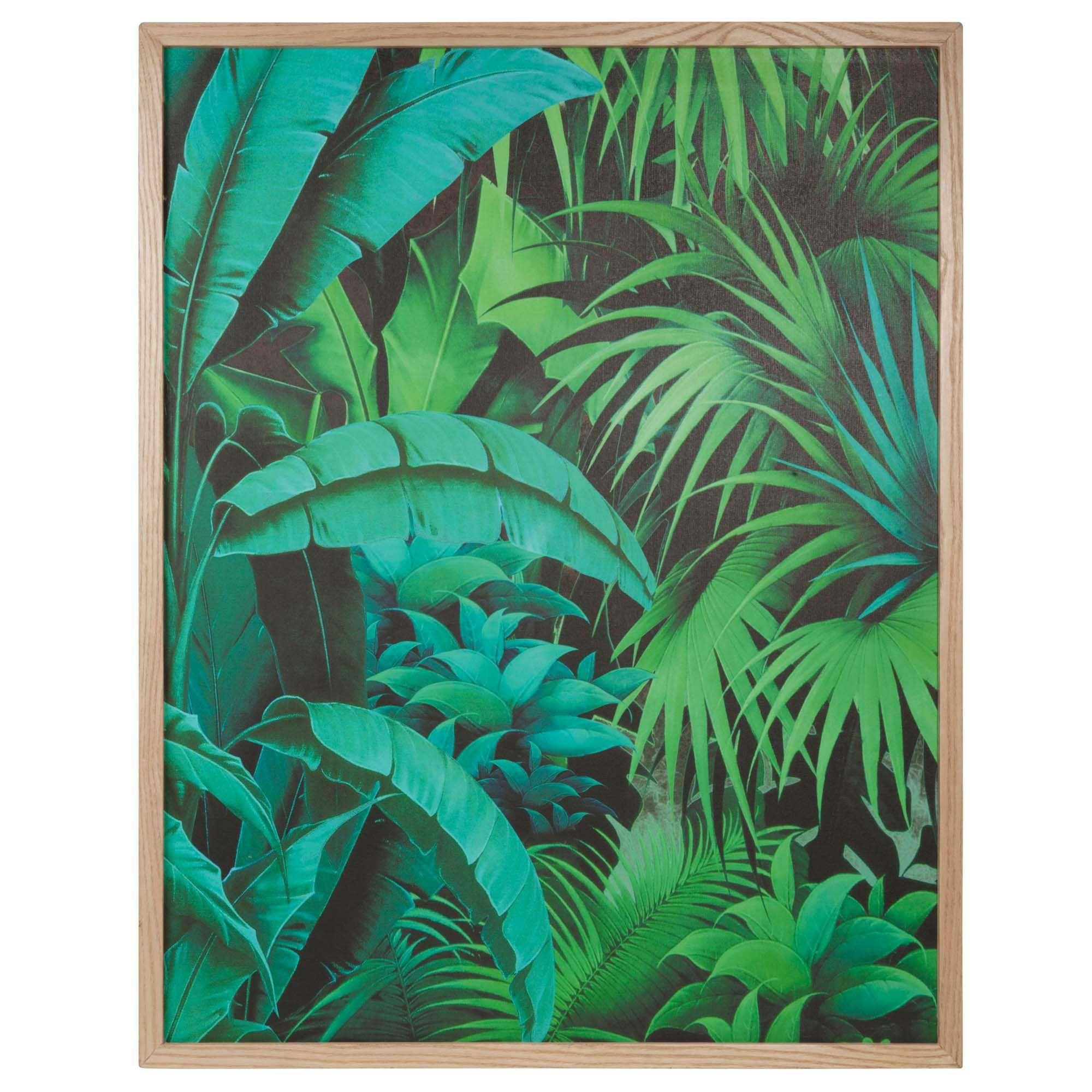 Tableau en bois 67 x 85 cm into the jungle d co s jour for Deco sejour tropical