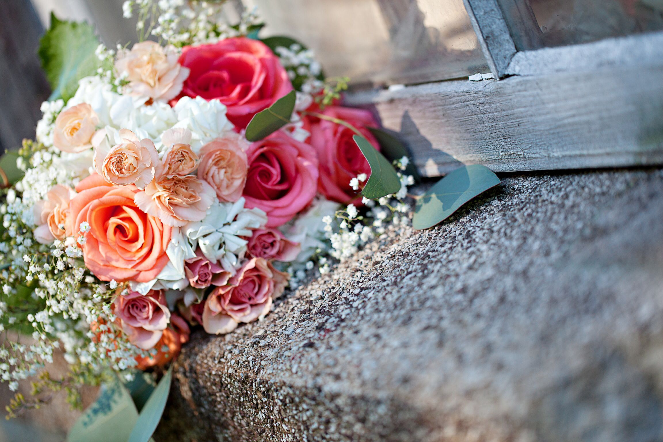 Bouquets (coral, peach, white)