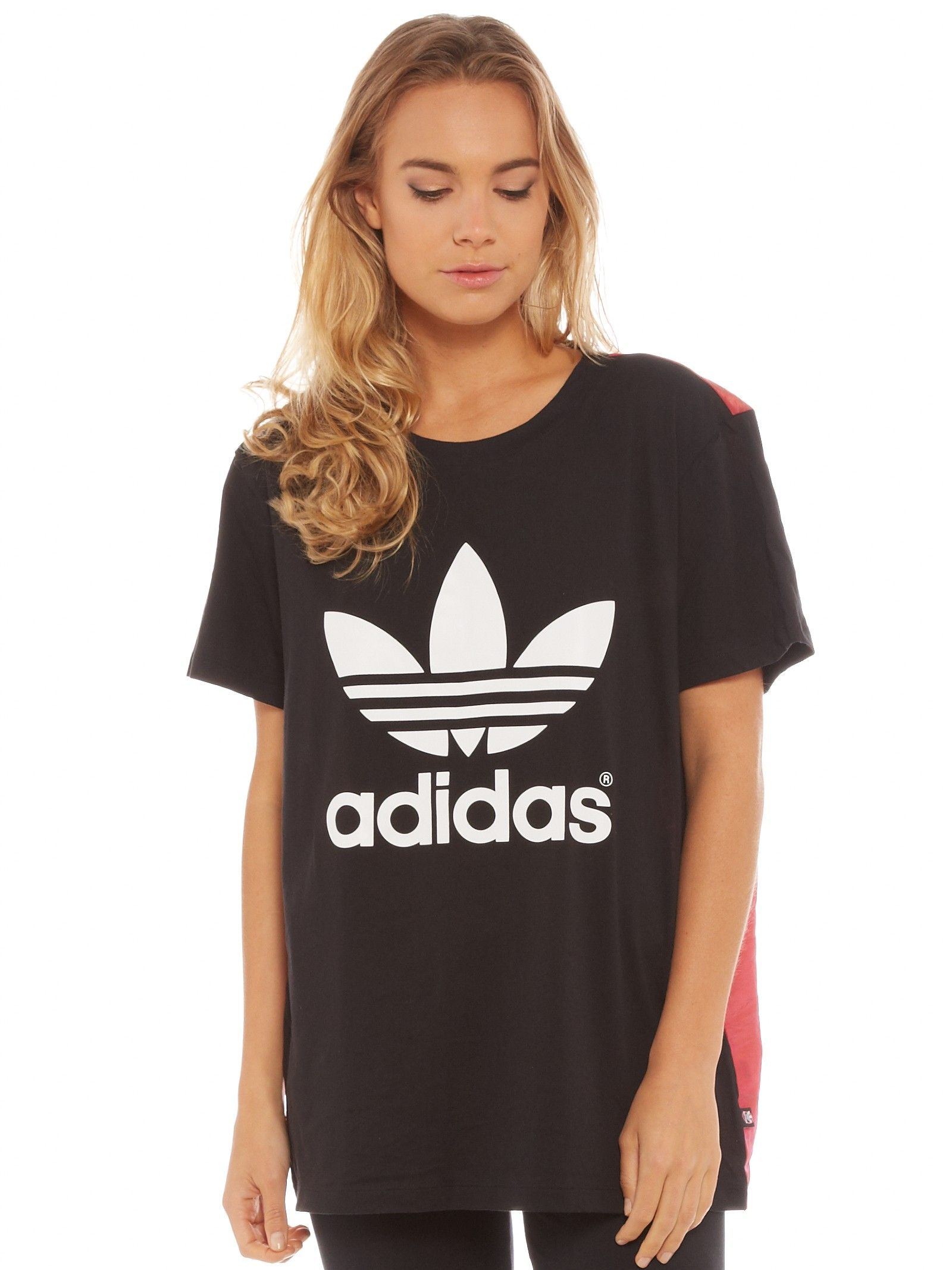 Rita Ora Space Shifter Logo Tee in Black and Red