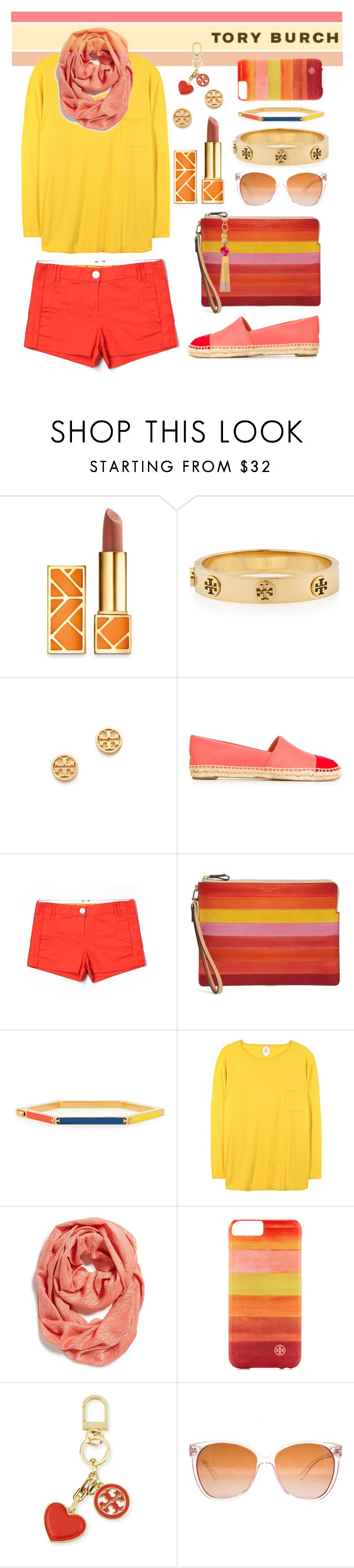 """Tory Burch"" by youaresofashion ❤ liked on Polyvore featuring Tory Burch, Jardin des Orangers and logomania"