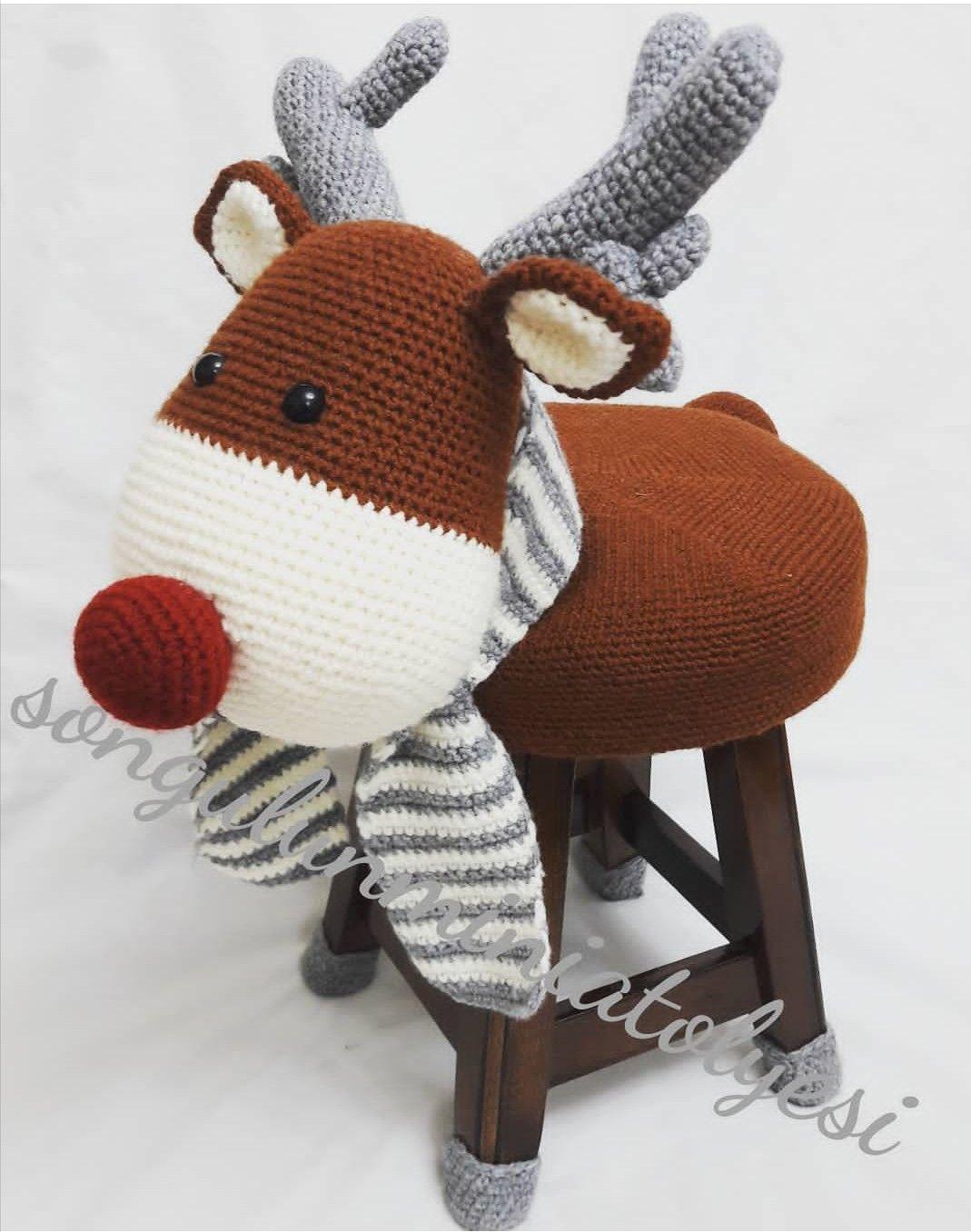 Atlas Çocuk Amigurumi Zürafa Örgü Tabure Fiyatı | 1356x1069