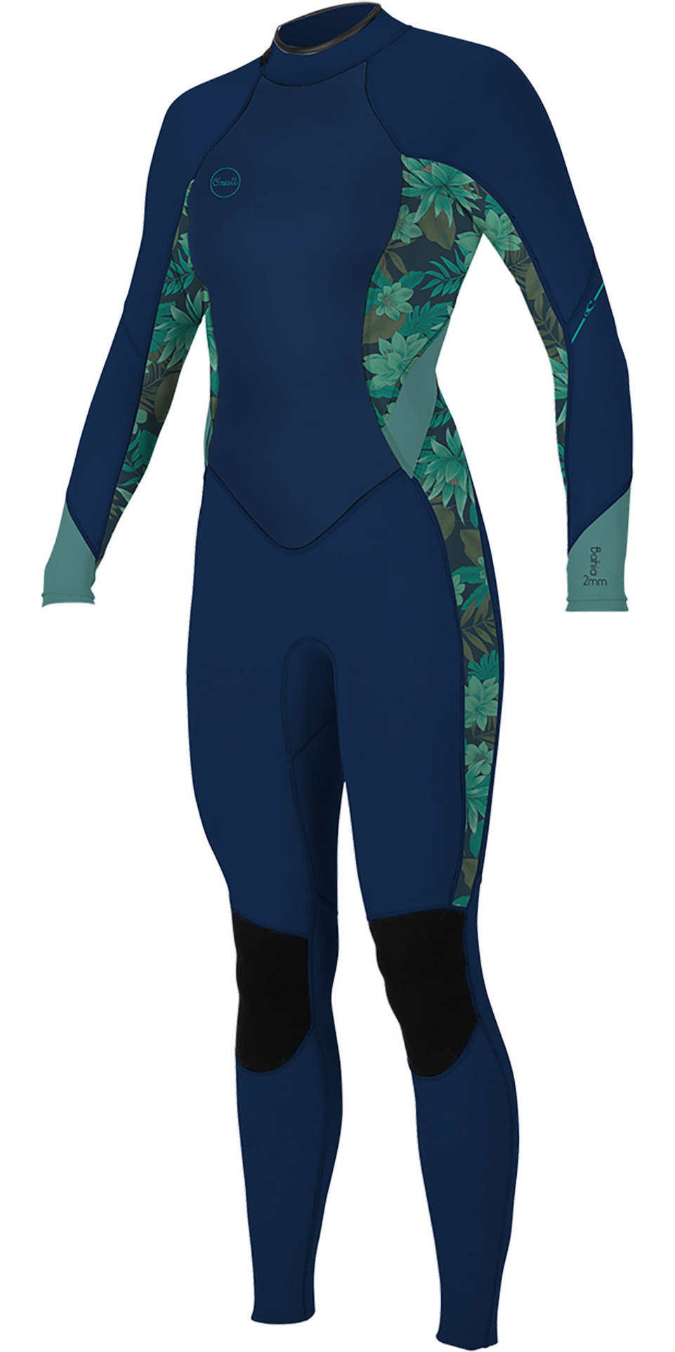 2019 O Neill Womens Bahia 3 2mm Back Zip Wetsuit Abyss Faro 5292 Wetsuits Womens Wetsuit Wetsuits Wetsuit