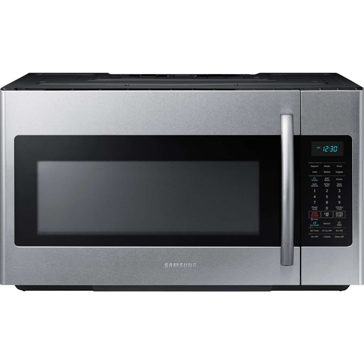 Me18h704sfs By Samsung Over The Range Microwaves Goedekers Com Microwave Hood Microwave Samsung 1