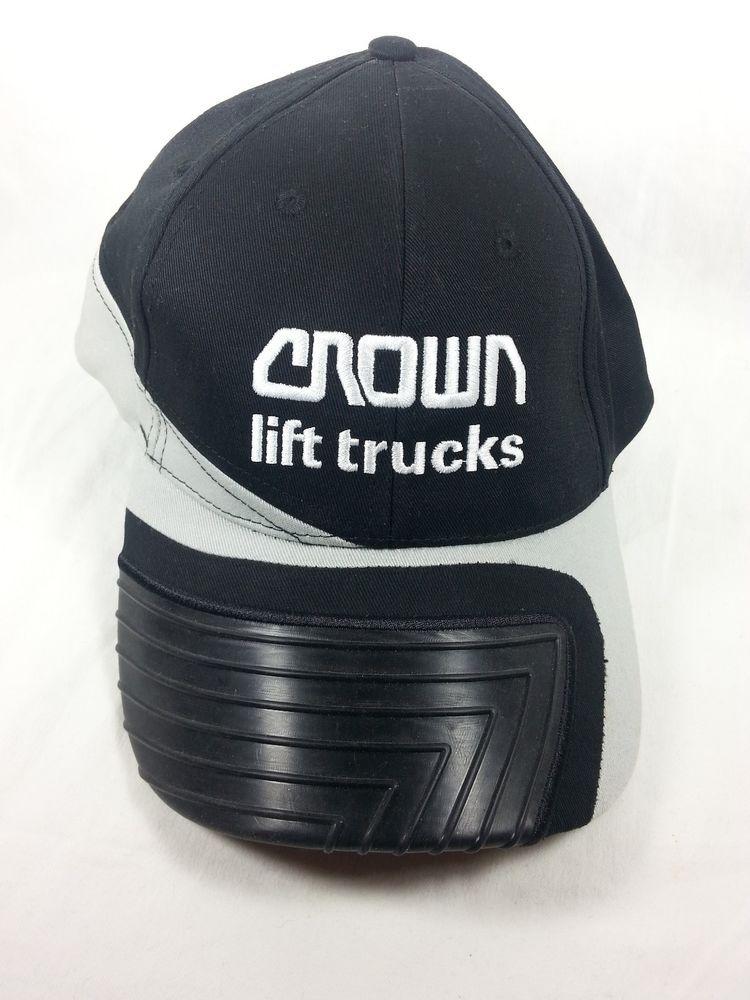 Crown Lift Trucks Baseball Hat Cap Embroidered Logo Black Self Adhesive  Back  KProductsBrandHeadwear  BaseballCap 61b32e32e48