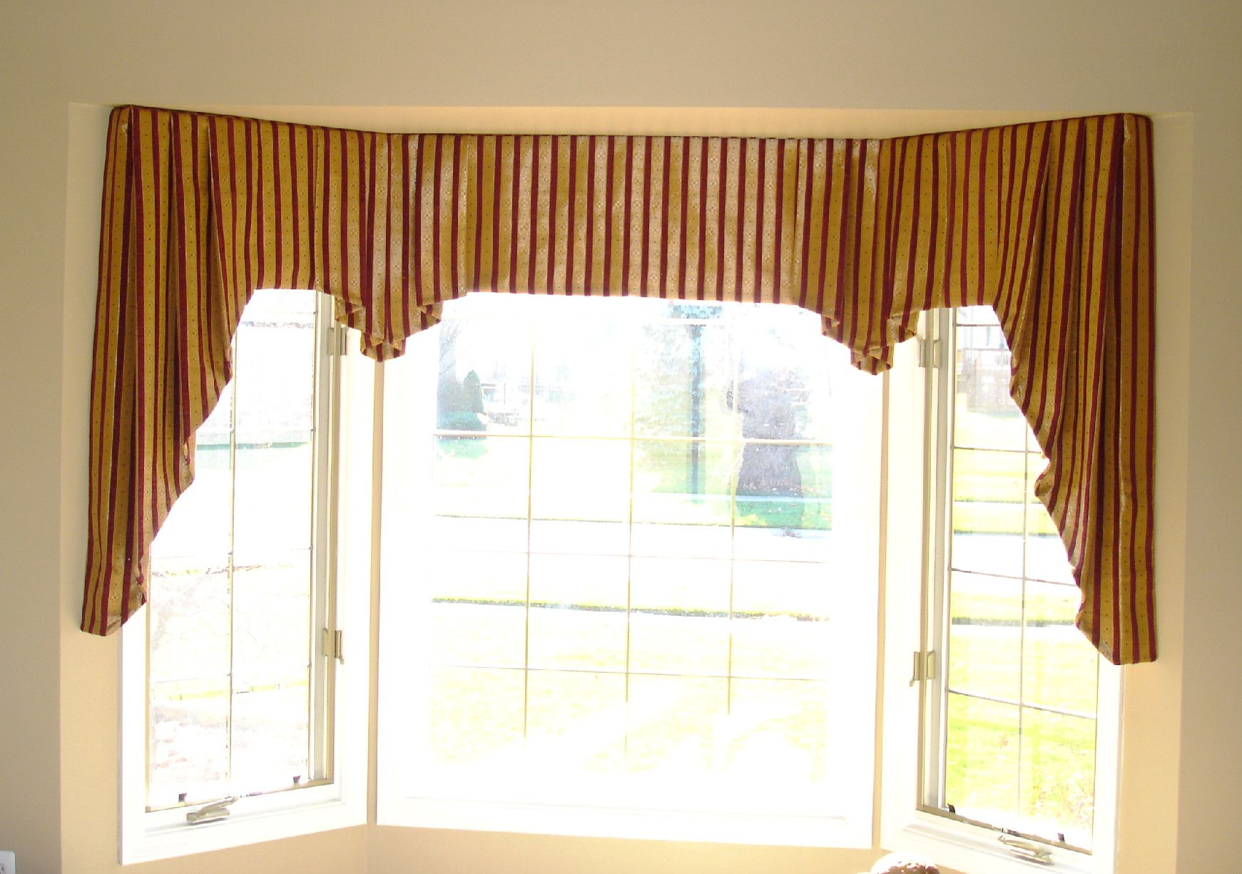 valances for large windows kitchen valances for large windows flat valance with jabots click to enlarge