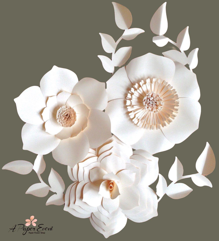 Paper Flower Backdrop Giant Paper Flowers Wedding Modelo De Folha