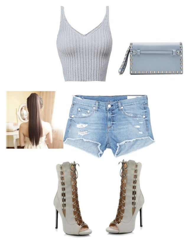 """""""Summer Style"""" by salmadivagirl on Polyvore featuring rag & bone/JEAN and Valentino"""