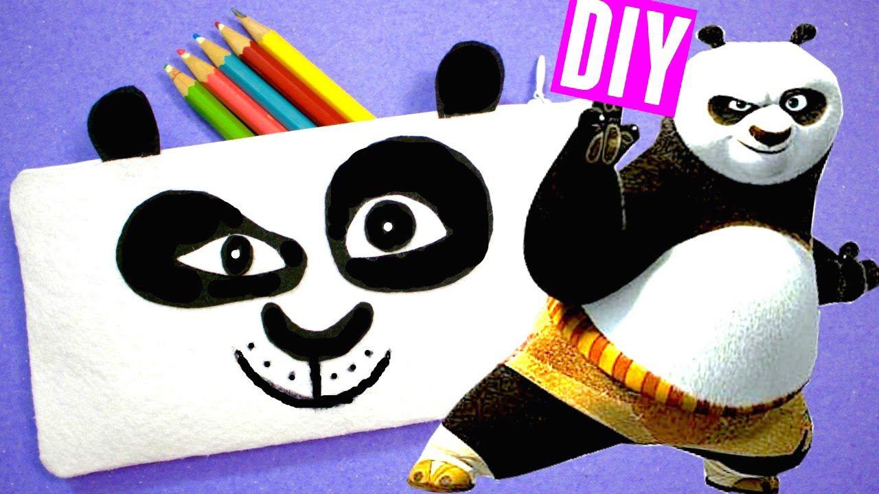 No Sew Kung Fu Panda Pencil Case Diy School Supplies