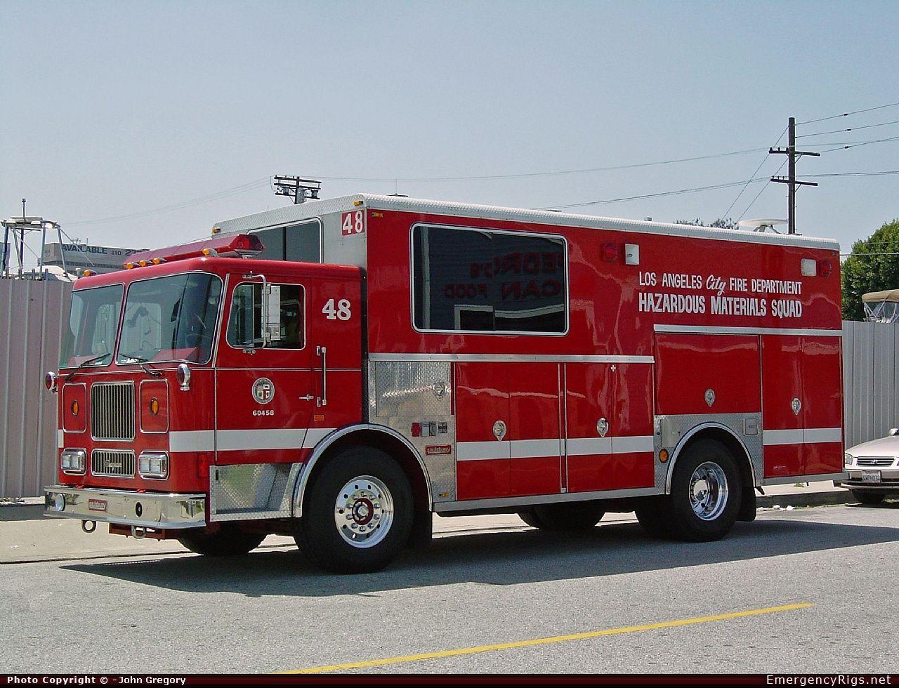 Seagrave Marauder Haz Mat Los Angeles Fire Department Emergency