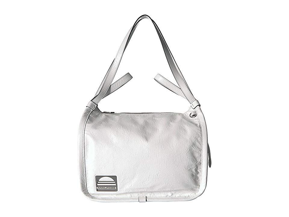 Marc Jacobs Sport Leather Tote Porcelain Handbags Transform your handbag into anything you want it to be carrying the Marc Jacobs Sport Leather Tote Bag made of durable y...