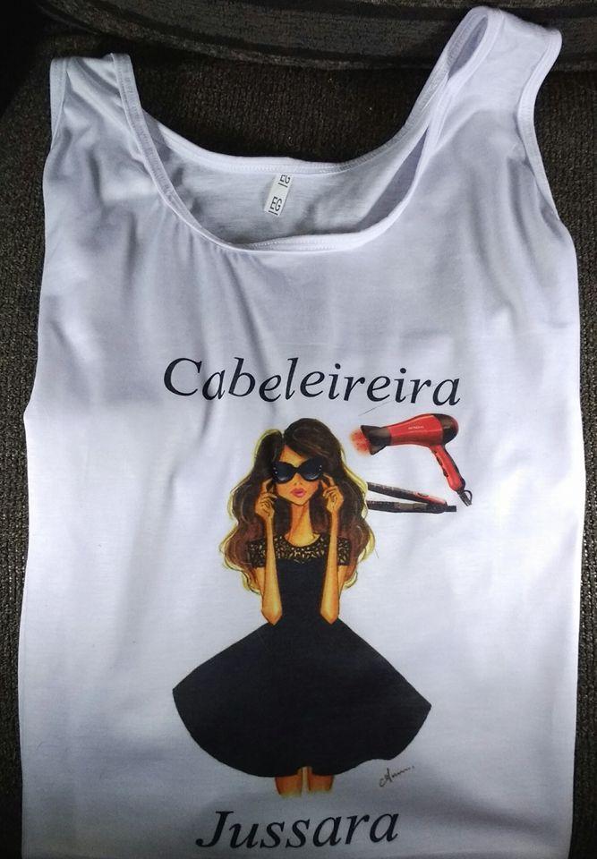 61cb14446 Camiseta Cabeleireira