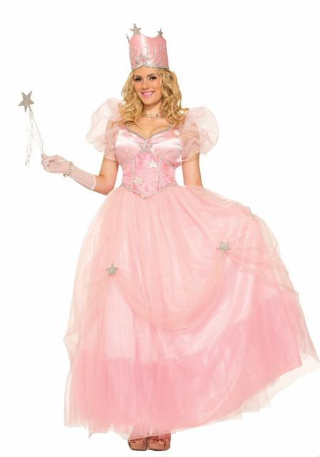 Glinda The Good Fairy Witch Wizard Of Oz Pink Crown Dress Adult Costume  Standard 8192df63cc