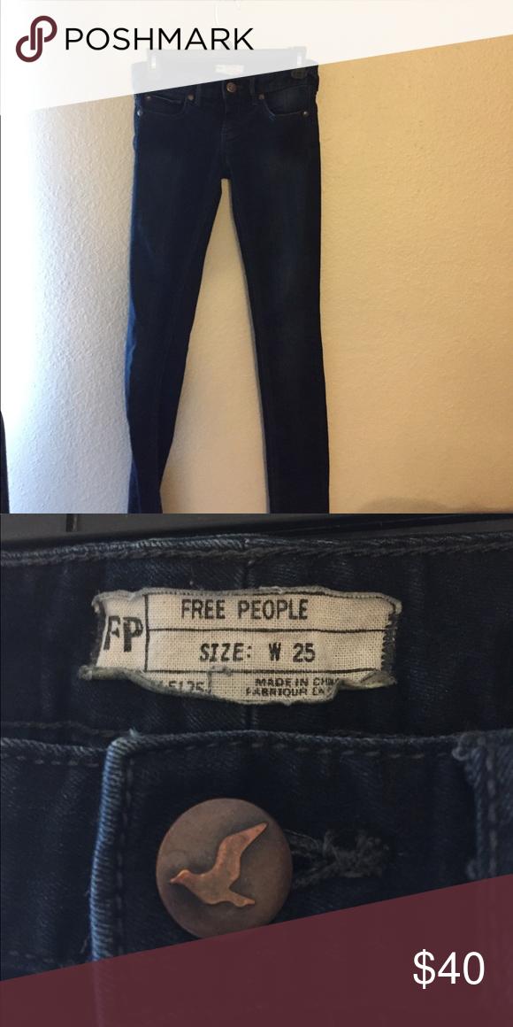 Free people dark wash skinny jeans Free people dark wash skinny jeans Free People Jeans Skinny