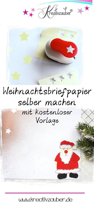 weihnachtsbriefpapier selber machen  ausdrucken und