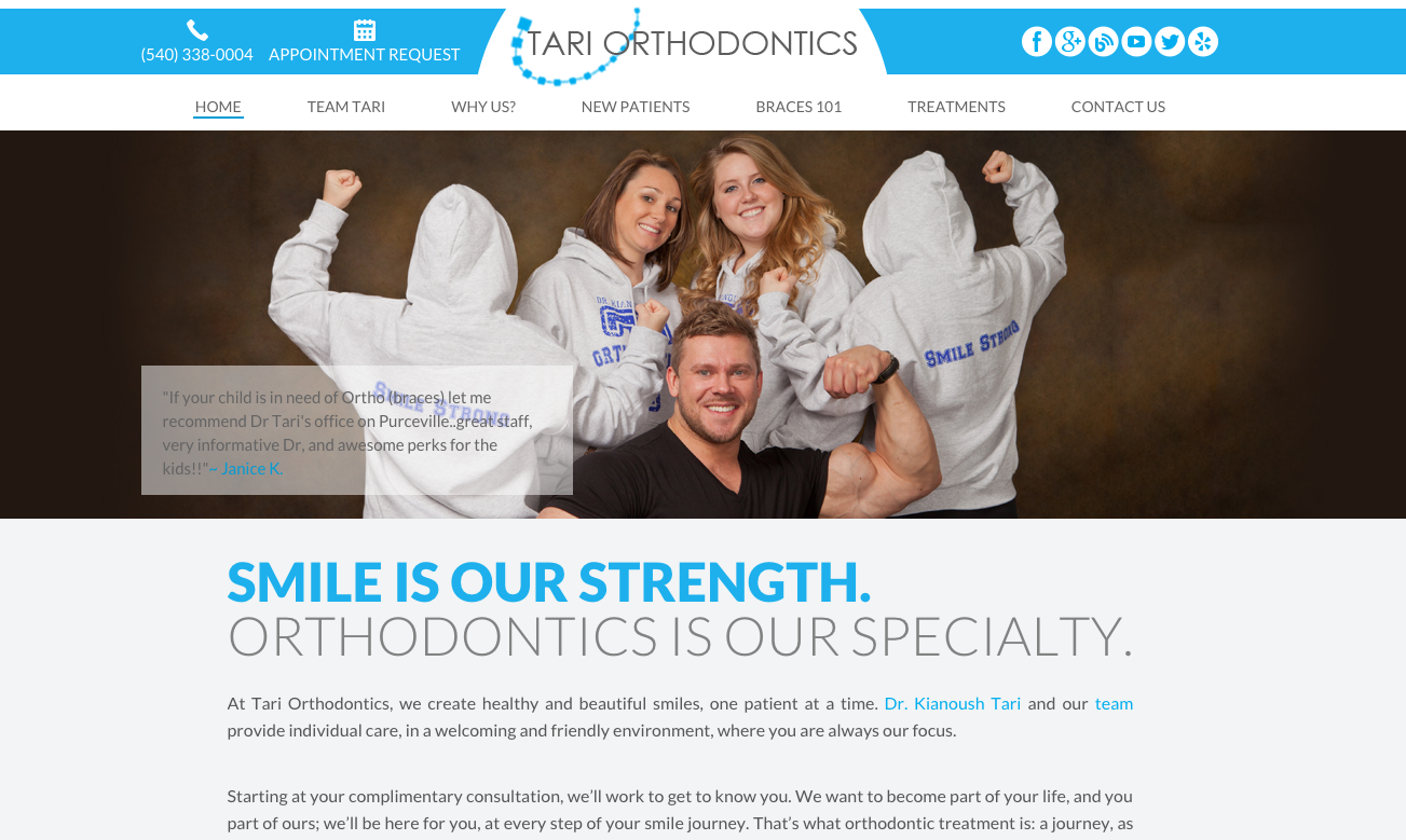 Sesamewebdesign Psds Ortho Responsive Blue White Top Menu Full Width Sans Flat Orthodontics Beautiful Smile Ortho
