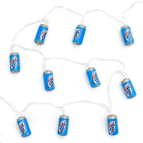 697176c5dacdf Miller Lite String Lights | Dirty Thirty Party | String lights ...
