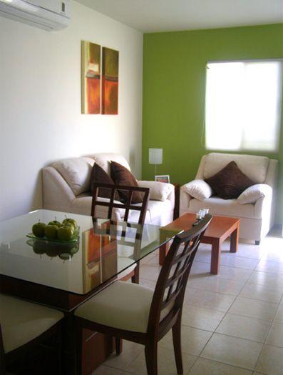 Decoraci n en espacios sala comedor my house pinterest for Departamentos pequenos minimalistas