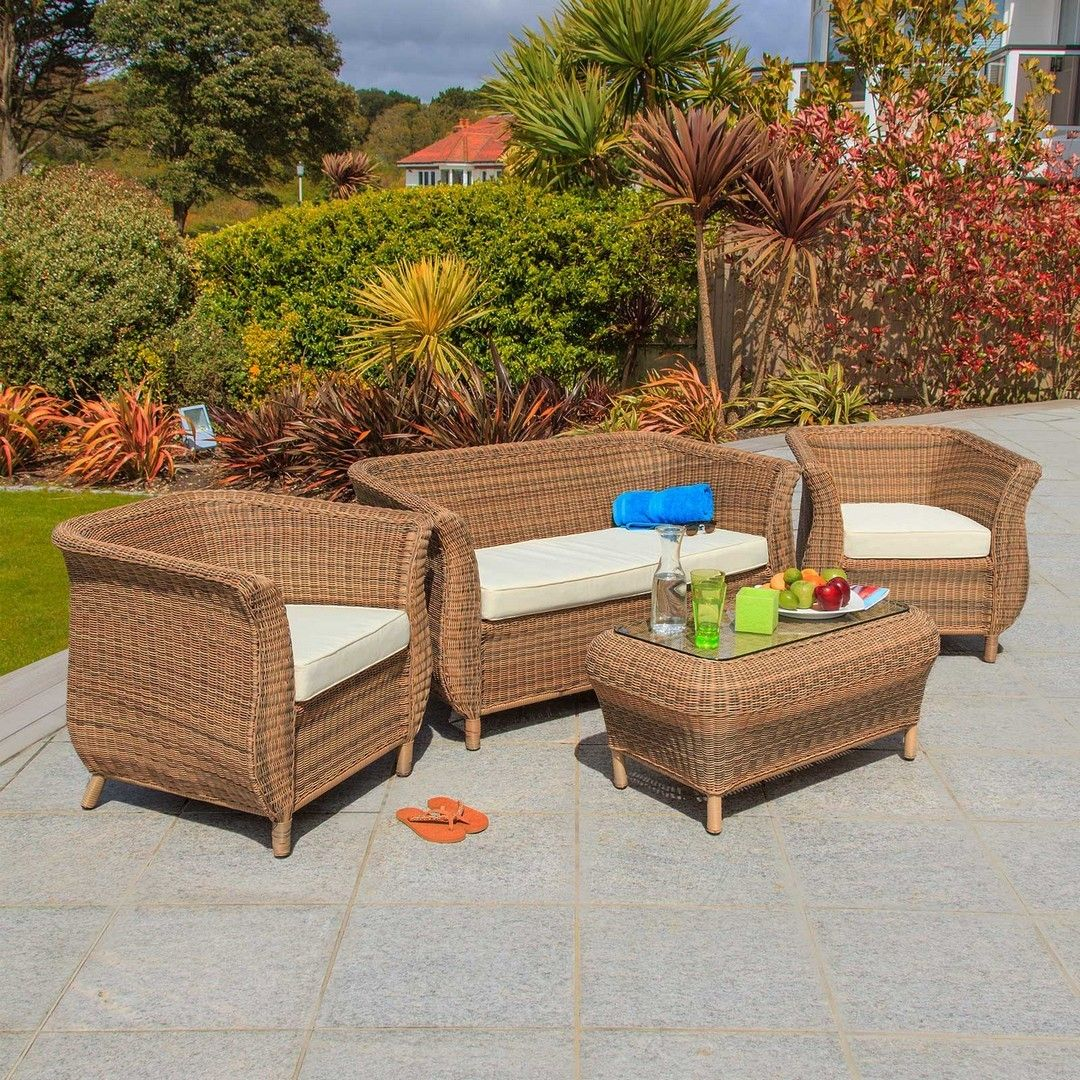 Oasis 4 Seater Garden Lounging Table And Chairs Set: Http://www.bonsoni.com/jamie-rattan-4-seater-lounge-set