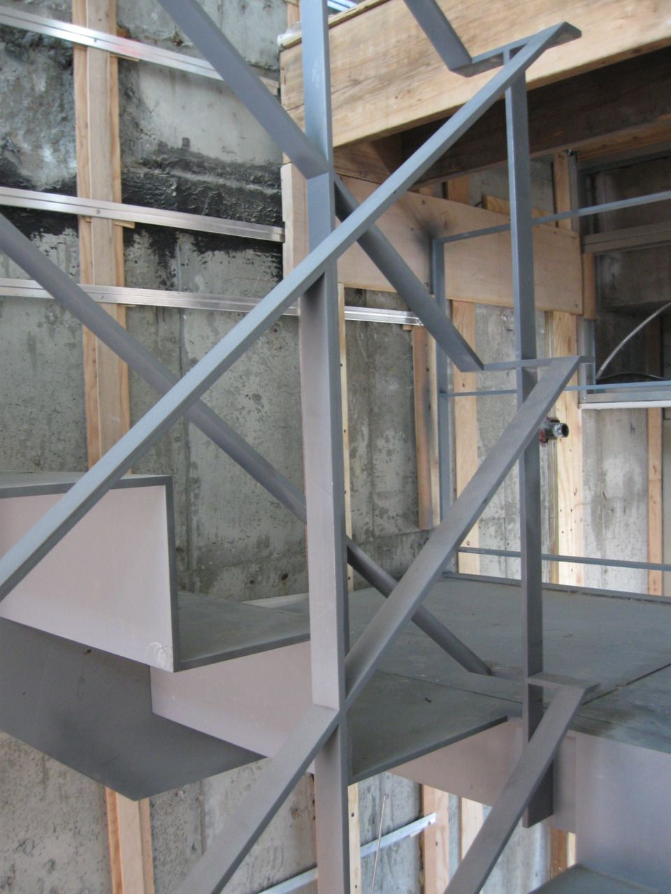 """Handrail Switchback 3/8""""x1 1/2"""" painted steel bar handrails are ..."""