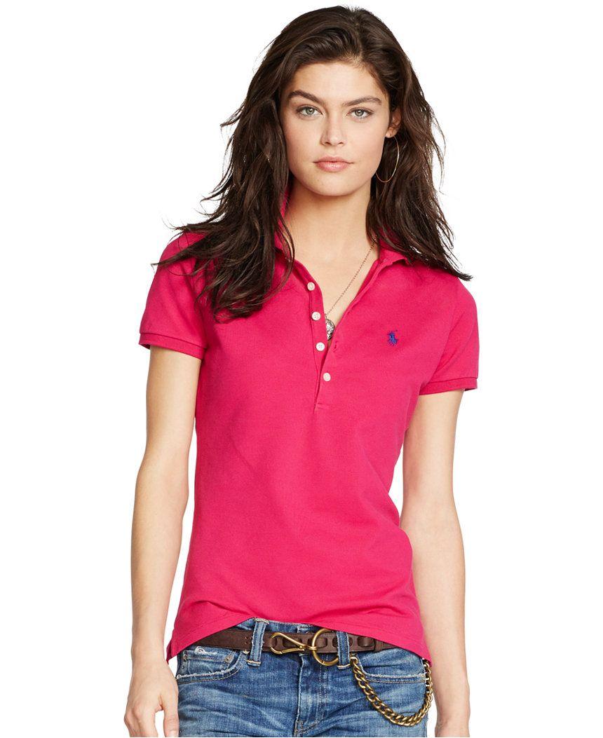Polo Ralph Lauren Slim-Fit Polo Shirt - Tops - Women - Macy's ...