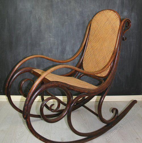 Rare Thonet Bentwood Rocking Chair No. 1 - Antiques Atlas - Rare Thonet Bentwood Rocking Chair No. 1 - Antiques Atlas